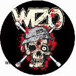 WIZO: Radkreuz Button in schwarz